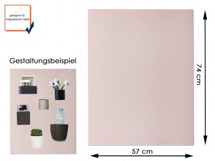 Wandaufbewahrung Wanddeko Magnettafel aus Metall in Beige 74 x 57cm, KalaMitica