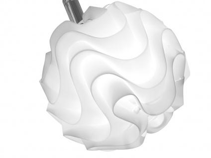 Design Deckenleuchte mit LED 9 Kugelschirme Kunststoff Weiß Wohnzimmerleuchten - Vorschau 2