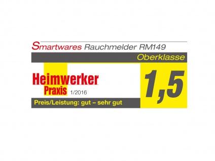 6er SET Brand-Melder Holzoptik 5 Jahres Batterie, EN14604 geprüft, Alarm Feuer - Vorschau 3
