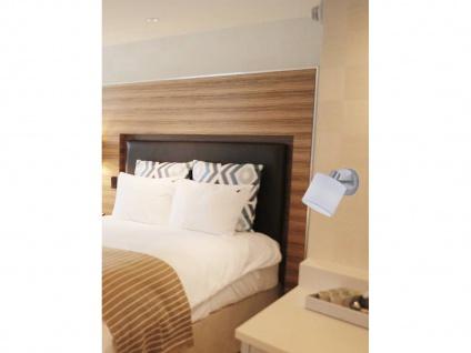 LED Wandspot 1 flammig mit Stoff Lampenschirm in weiß, schwenkbarer Wandstrahler - Vorschau 3