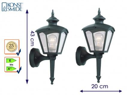 Konstsmide 2er Set Wandleuchte außen schwarz Gartenlampe Laterne Außenlampen