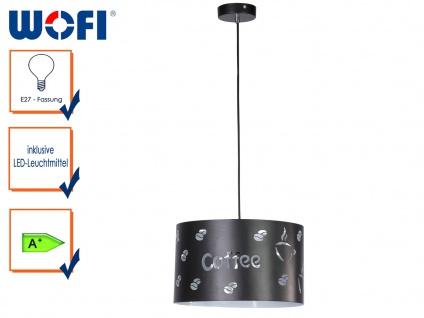 Pendelleuchte mit DEKOR, Ø 33, 5cm, mit Filament-LED, Hängelampe Hängeleuchte