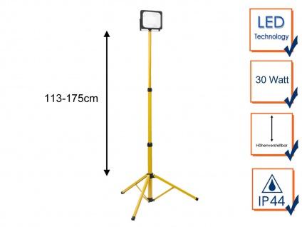 30Watt LED Baustrahler mit Stativ - Arbeitsscheinwerfer Outdoor Fluter Baustelle