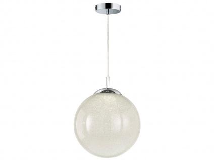 Ausgefallene Pendelleuchte Kugel Glas Kristalloptik Ø 30cm E27 - Esstischlampen - Vorschau 2