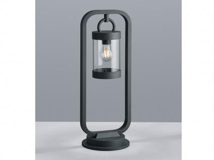 Außensockelleuchte in Anthrazit moderne Laterne Outdoor Stehlampe für den Garten