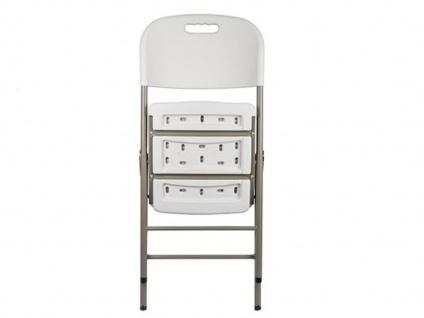 Klappstuhl weiß, Campingstühle klappbar, Balkonstühle , Gartenstühle - Vorschau 4