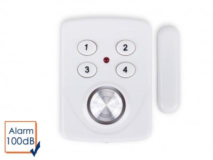 Mini Türalarm und Fensteralarm mit Code 100dB, Einbruchschutz Hausalarm