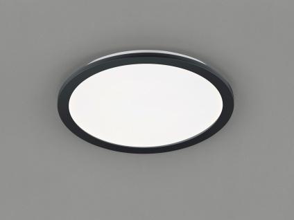 LED Deckenleuchte CAMILLUS flache Badezimmerlampe rund Ø40cm SchwarzIP44