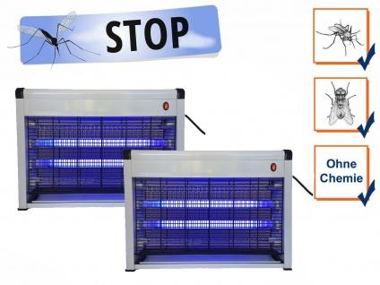 Praktische Insektenvernichter mit 10 Watt UV-Lampen, 2er Set Mückenfallen