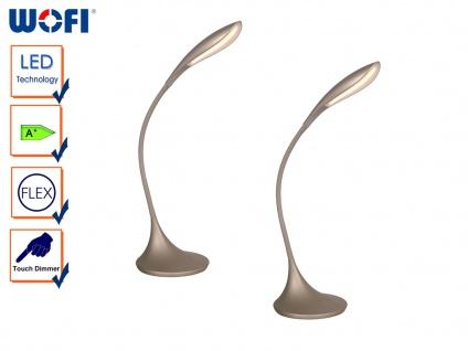 2er Set LED Schreibtischleuchte, Dimmer, Flexarm, Schreibtischlampe Tischleuchte