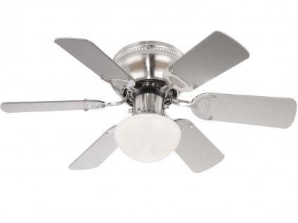3 Stufen Deckenventilator - Licht & Zugschalter 2 Flügelfarben weiß oder graphit