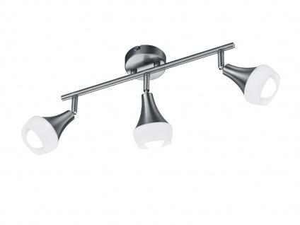 Moderne Trio Wandlampe aus Metall Nickel matt & Glas in Weiß, 3 Spots E14 Sockel