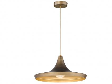 Vintage LED Pendelleuchte mit Metall Schirm Braun Ø 38cm - Design Esstischlampen