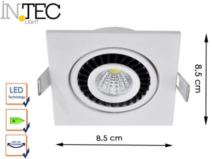 LED Einbaustrahler 3W Spot schwenkbar weiß Deckenstrahler Einbauleuchte Leuchte - Vorschau 1