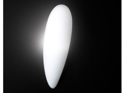 Moderne Wandleuchte, Glas in Tropfenform, 44x13cm, Trio-Leuchten