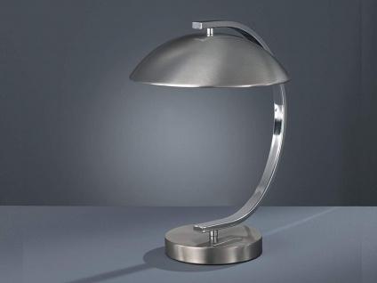 Design Tischleuchte RETRO 1 flammig Metall Silber / Nickel matt Höhe 35cm Ø25cm