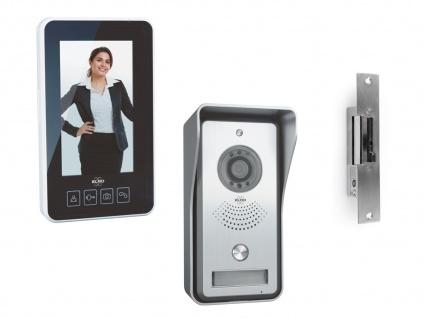 Funk Videotürsprechanlage tragbarer Monitor & Türöffner, Gegensprechanlage Haus