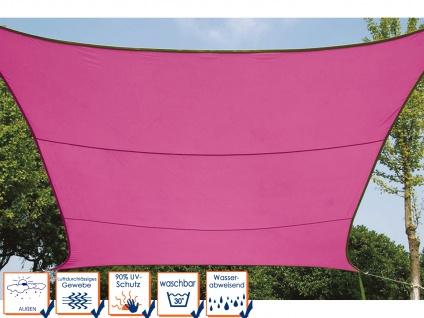 Sonnensegel Regenschutz Quadrat PEREL, Fuchsia, 500 x 500 cm, Wasserabweisend