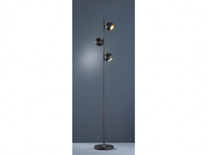 Designer Standlampe LED 155cm hoch, mit 3 Spots dreh+schwenkbar in schwarz matt - Vorschau 2