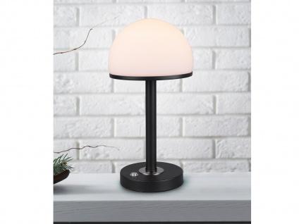 LED Tischleuchte mit TOUCH Dimmer Schwarz Nachttischlampen fürs Schlafzimmer
