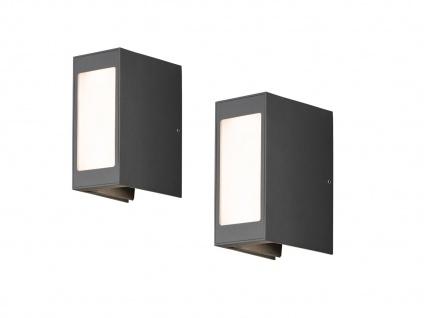 2er Set LED Außenwandleuchte Alu anthrazit IP54 Außenleuchten Wegeleuchten - Vorschau 2