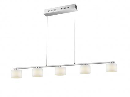 5 flammige LED Pendelleuchte für Innen - höhenverstellbar & 3 Stufen dimmbar, A+