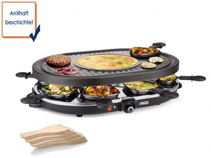 Raclette mit integrier Crêpefläche antihaftbeschichtet 1200 Watt Tischgrill