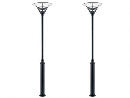 2er Set Konstsmide Mastleuchte 220cm, Gartenlaterne schwarz, Straßenlaterne