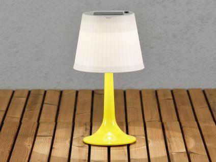 Solar High Power LED-Tischlampe / Tischleuchte ASSISI, gelb Höhe 36 cm