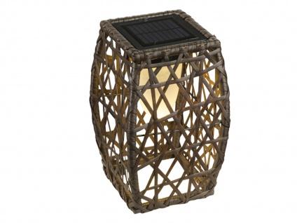 Rattan LED Solarleuchte - Stehlampe für den Garten & draußen mit Geflecht-Design - Vorschau 2