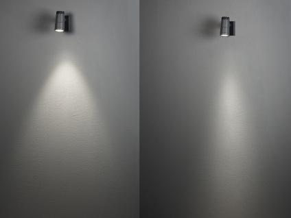 2 x ALU LED Wandleuchten für außen schwenkbar, Lichtaustritt 0°-90° verstellbar - Vorschau 5