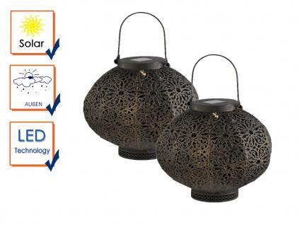 2er Set LED Solarleuchten für den Garten Tisch Laterne zum Aufhängen für Draußen