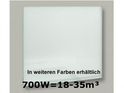 700W Infrarot-Glaspaneel weiß, 110x60cm, für Räume 18-35m³