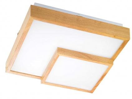 Quadratische LED Deckenleuchte satinierte Abdeckung & Holzrahmen 34W - Flurlampe