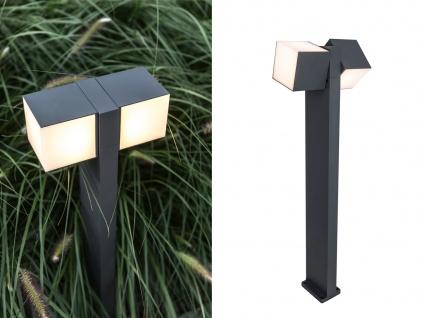 Hochwertige Outdoor Stehlampe - schwenkbare LED Weglampe aus ALU Anthrazit IP54