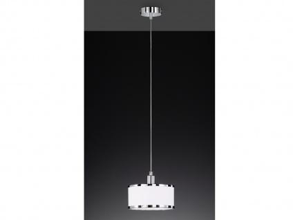 LED Pendelleuchte mit Stoffschirm Rund Weiß Hängeleuchten für den Esstisch Lampe