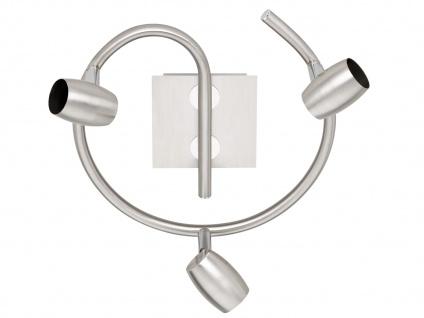 LED Deckenleuchte Strahler Rondell Ø 25, 5cm 3 Spots schwenkbar - Deckenlampen