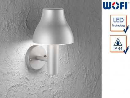 LED Außenwandleuchte Aluminium H.29cm 7W Wandleuchte außen Fassadenbeleuchtung