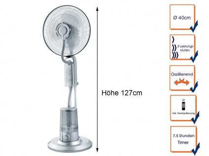 Standventilator mit Sprühnebel Kühlfunktion & Fernbedienung Lüfter Wasserkühlung - Vorschau 3