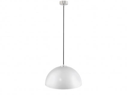 Flurlampe Pendelleuchte mit dimmbare LED, Metallschirm weiß Ø 40cm, Küchenlampe