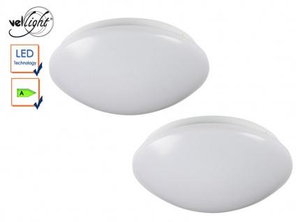 2er Set LED Deckenleuchten rund Deckenlampen weiß 26cm, Deckenbeleuchtung Flur
