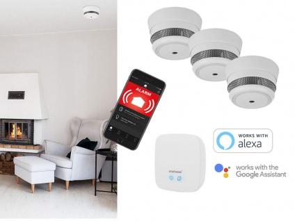 Smarthome Funkrauchmelder mit ALARM per APP aufs Smartphone Handy über Zentrale