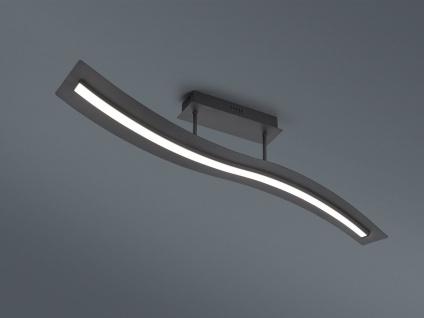 LED Deckenlampe geschwungen Design Wellenform Schwarz mit Switch Dimmer Funktion