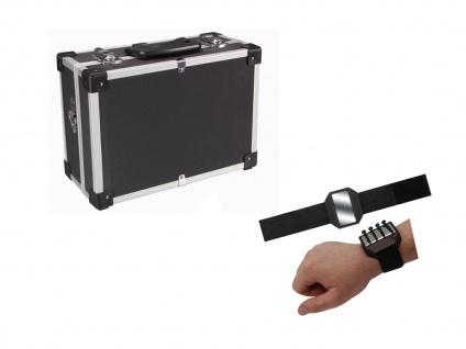 STABILER Werkzeugkoffer Aluminium + Magnetband, Alukoffer Alu Werkzeugkiste