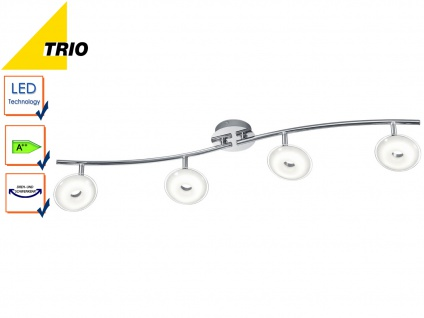 LED Deckenleuchte Deckenstrahler PILATUS Chrom Acryl weiß 4x 3, 8W LED