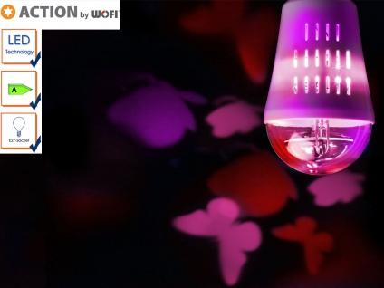 LED Deko Leuchtmittel E27, Stimmungsleuchtmittel Schmetterlinge, mit Motor