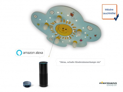 LED Kinderzimmerlampe Decke SUNNY Schlummerlicht Amazon Echo kompatibel! - Vorschau 3