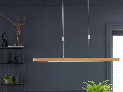 Dimmbare & höhenverstellbare LED Pendelleuchte mit Farbwechsel, Holzoptik Eiche