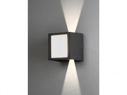 ALU LED Wandlampe in anthrazit für außen Lichtaustritt 0°-90° verstellbar IP54