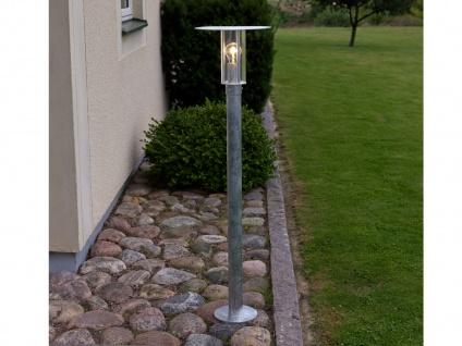 Wegeleuchte Außenleuchte MODE, E27, Vandalismus geschützt, galv. Stahl